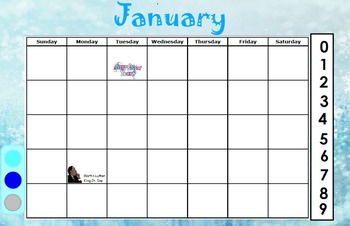 January Calendar for ActivInspire