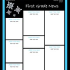 January Classroom Newsletter Template