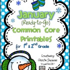 January Common Core Printables for 1st Grade {Ready-to-Go}