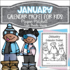 January Daily Calendar Review and Math Practice