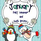 January Daily Language and Math Practice