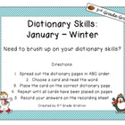 January Dictionary Skills - Winter