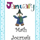 January Everyday Math Journal Printable