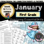January Homework Packet: 1st Grade (Winter Fun)
