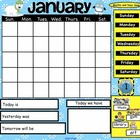 January Interactive SmartBoard Calendar