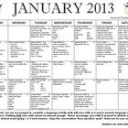 January-June 2013 Language Calendars