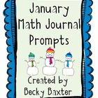 January Math Journal Prompts- Kindergarten CC