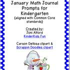 January Math Journal Prompts (aligned with CC standards)