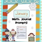 January Math Journal Prompts