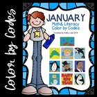 January Math &amp; Literacy Color by Codes