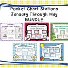 Pocket Chart Stations January through May {BUNDLED}