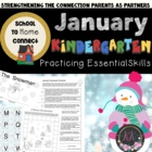 January Monthly Homework Packet: Kindergarten (Winter Fun)