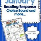 January Reading Response Choice Board