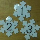 January Snowflake Calendar Days