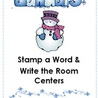 January Stamp a Word and Write the Room Centers