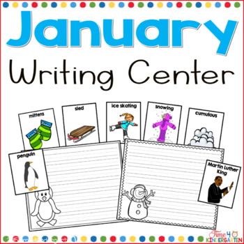 kindergarten writing, writing center, word wall, winter vocabulary, literacy center