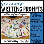 January Writing Pages for Class Share Time