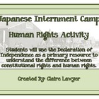 Japanese Internment Camp Human Rights Activity