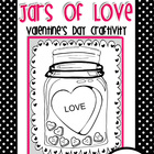 Jars of Love Valentine&#039;s Day Craftivity