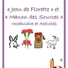 Jean de Florette &amp; Manon des Sources Vocabulary and Activities