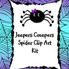 &quot;Jeepers Creepers&quot; Spider Clip Art