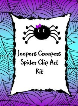 """Jeepers Creepers"" Spider Clip Art"