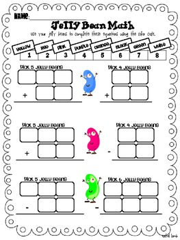 Jelly Bean Math {freebie!}