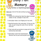 Jellyfish Sight Word Memory Game *Freebie* RF.K.3, RF.1.3, RF.2.3