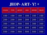 Jeopardy Art Game (JeopARTy) to Review Art Concepts