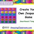 Jeopardy Game Template for SMART Notebook