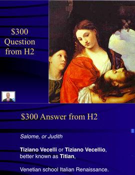 Jeopardy Game of Renaissance Art & Artists