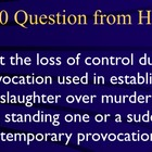 Jeopardy Law Game, MANSLAUGHTER, Criminal Law &amp; Justice
