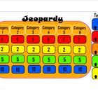 Jeopardy Review Game Template - 24 question blanks, point 