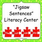 Jigsaw Sentences Literacy Center - building, reading and w