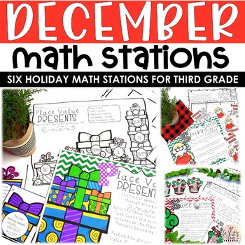 Jingle All The Way: Six Christmas Math Stations {Common Core Aligned} Printables