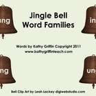 Jingle Bell Word Families for the Smart Board, IWB,  or Computer