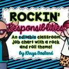 Job Chart For Classroom - Rockin' Responsibilities