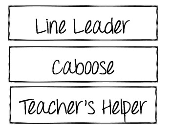 Job Labels for Classroom