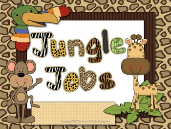 Jobs in the Jungle: Jungle theme Job Chart