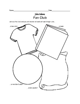 John Adams- 19 PAGES of Fun Activities