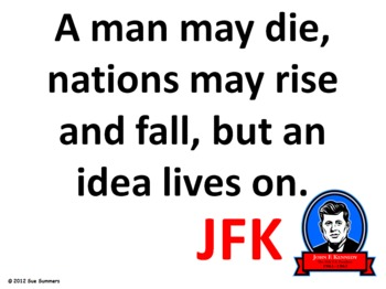 John F. Kennedy Quotes Presentation & Signs - JFK Quotes