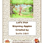Johnny Appleseed Rhyming Game