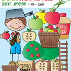 Johnny Appleseed Stick Kid - Clipart for Teaching Resources