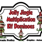Jolly Jingle Multiplication Elf Dominoes
