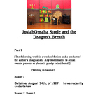 """Josiah Steele & the Dragon's Breath"" A Readers Theatre Sc"