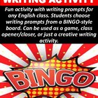 Journal BINGO Writing Prompts 2