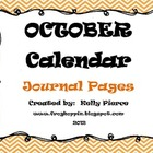 Journal Calendar Pack October