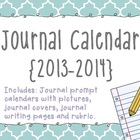 Journal Prompt Calendar {2013-2014}
