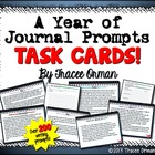 Journal Prompts Task Cards for the Entire Year