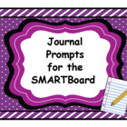 Journal Prompts for the Smartboard